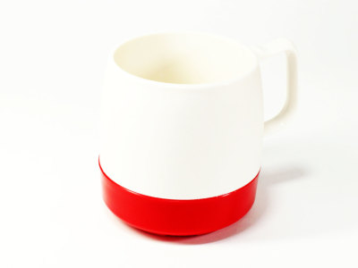 DINEX【ダイネックス】INSULATED CLASSIC MUG CUP *OFF WHITE/RED